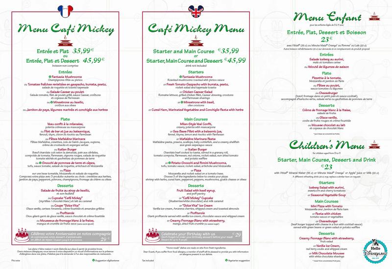 Cartes des restaurants de Disneyland Paris Menu-d11