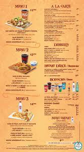 Cartes des restaurants de Disneyland Paris Tylych16