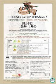 Cartes des restaurants de Disneyland Paris Tylych18