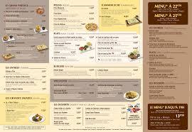 Cartes des restaurants de Disneyland Paris Tylych19