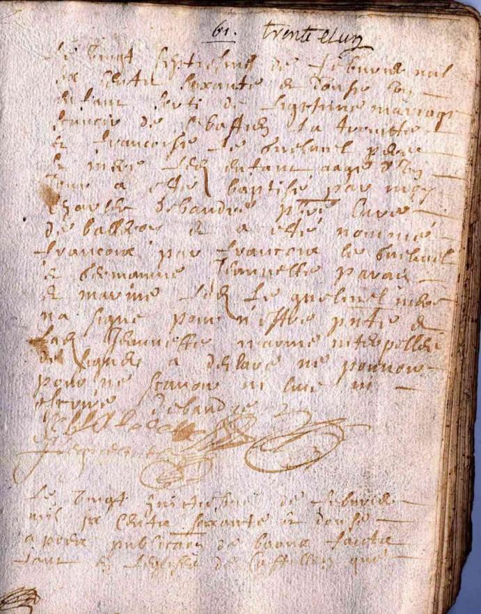 acte - Aide lecture acte de 1672 LATROUITE François Latrou10