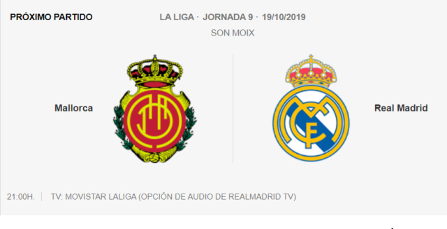 Mallorca - Real Madrid 0-310