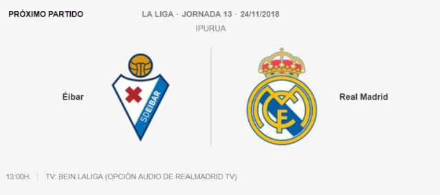 Eibar - Real Madrid 0-511