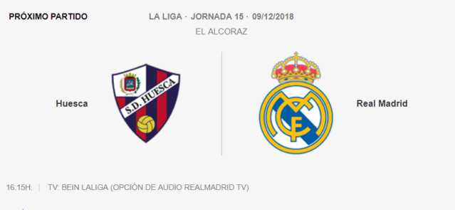 HUESCA - REAL MADRID 0-610