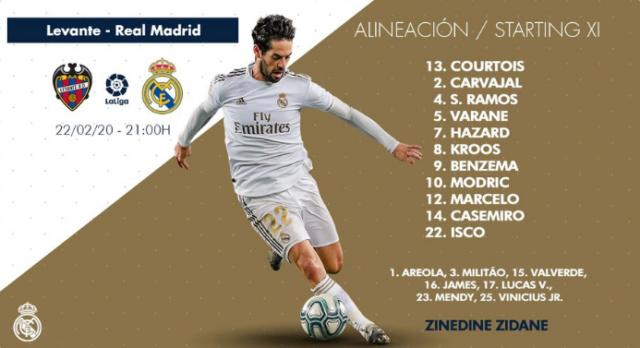 Jornada 25. Levante - Real Madrid 0-612