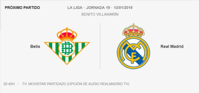BETIS - REAL MADRID 1-710