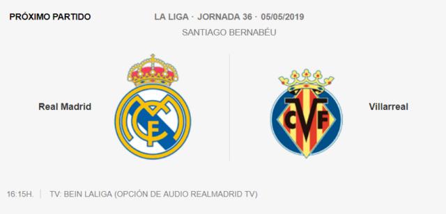 REAL MADRID - VILLARREAL 5-012