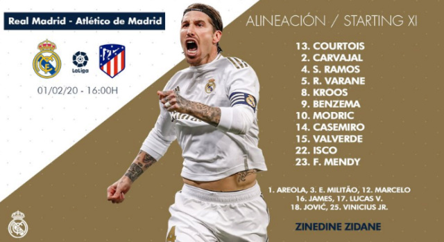 Real Madrid - Atlético de Madrid 5-013