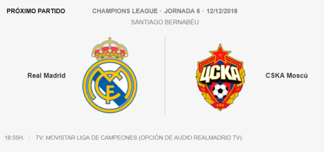 REAL MADRID - CSKA 7-010