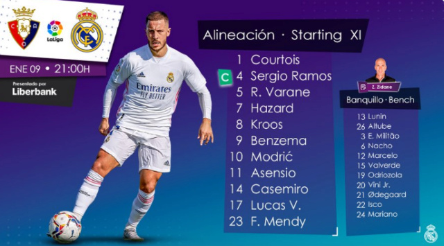 Osasuna-Real Madrid Alinea16