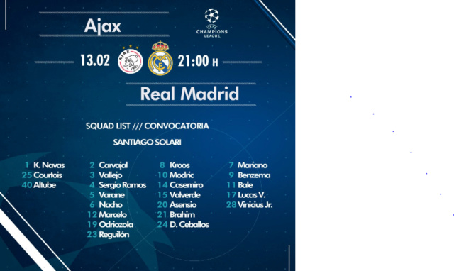 AJAX - REAL MADRID Conv16