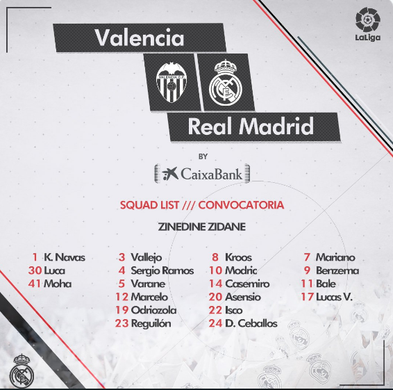 VALENCIA - REAL MADRID Conv18