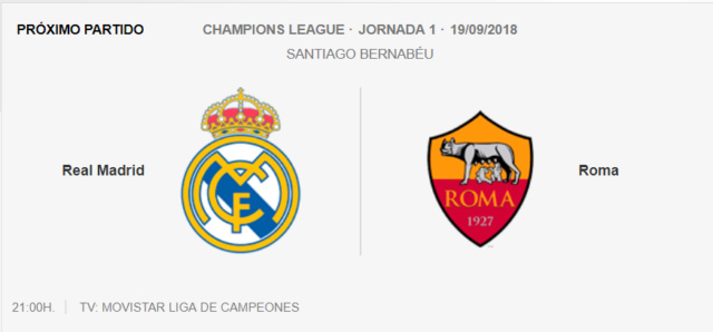 Real Madrid - Roma Lc10