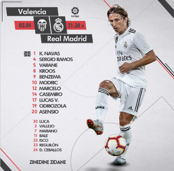 VALENCIA - REAL MADRID Once12