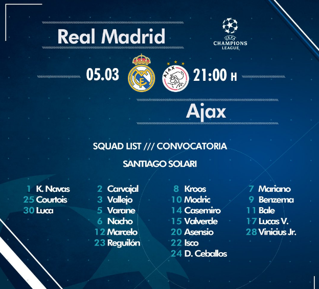 REAL MADRID - AJAX Ov10