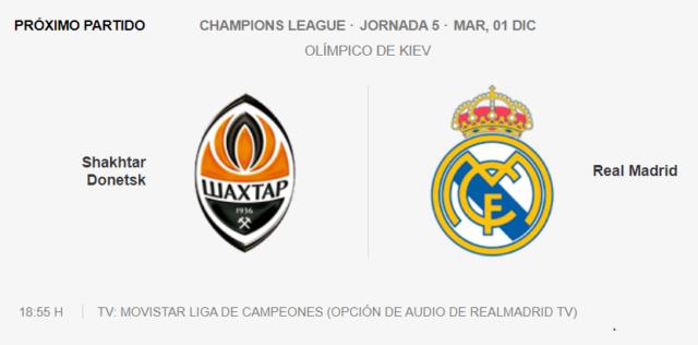 Shakhtar Donetsk - Real Madrid Par14
