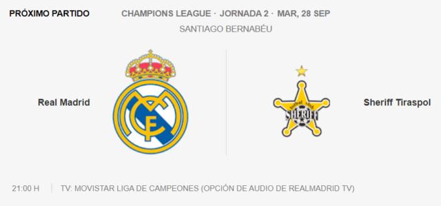 CL: Real Madrid Vs Sheriff Tiraspol Parti28
