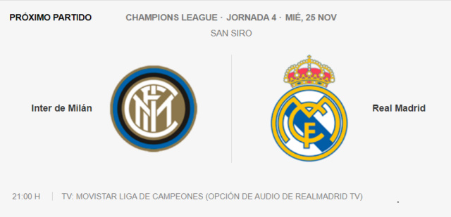 Inter de Milán - Real Madrid Partid12