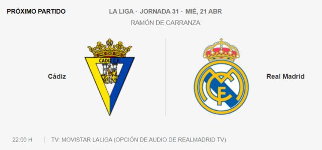 Cádiz - Real Madrid Partid16