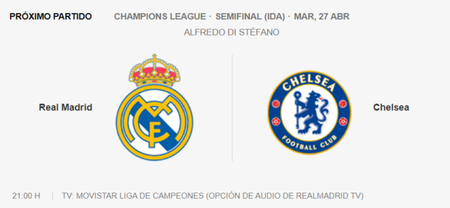 Real Madrid - Chelsea Partid18
