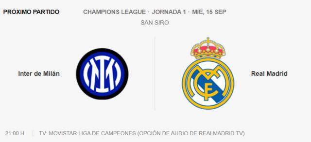 Inter de Milán - Real Madrid Partid26