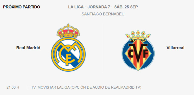 Real Madrid - Villarreal Partid29