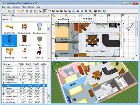 برنامج Sweet Home 3D لتصميم المنازل Sweet-10