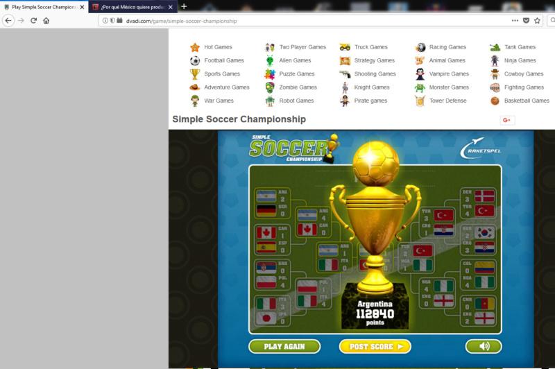 Segundo puntaje Futbol11