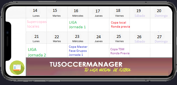TuSoccerManager—Liga virtual de fútbol en español Quince30