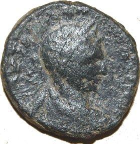 AE23 Provincial de Heliogábalo. Aelia Capitolina (Jerusalén) dedicada al Maestro Benyusuf. 42910