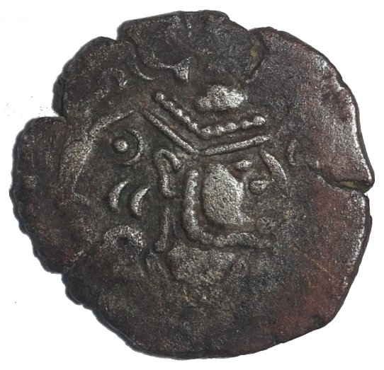 Dracma Indo-Sassanian, vellón, Pratihara-Pala, Gurjarat-Malwa, 750-950 D.C, NIS 355-376.  43810