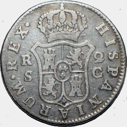2 reales 1788. Carlos III. Sevilla 454a10