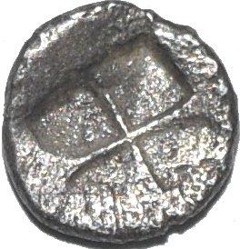 Hemiobolo de Chersonesos. 500 a.C. 465a10