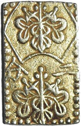 Japón. 2 Bu o Ni Bu de oro y plata. 1868-69  47010