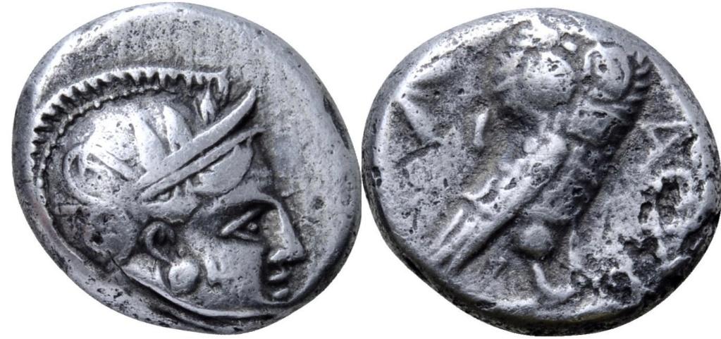 Dracma de plata, Filistea, Gaza. Ca. 450-400 a.C. 47410