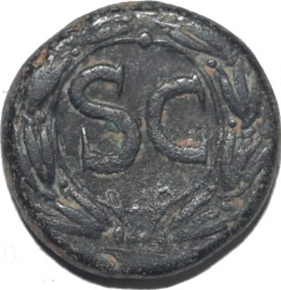 AE20 de Nerón. SC. Antioquía de Orontes 481a11