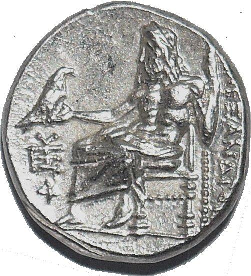 Dracma de plata. Reyes Macedonios. Filipo III Arrideo. Ca. 323/2 a.C. 484c10