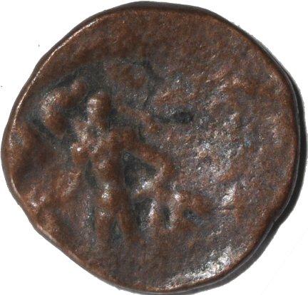 AE19 de Kujula Kadphises, probable imitación post-Kujula. 500a11