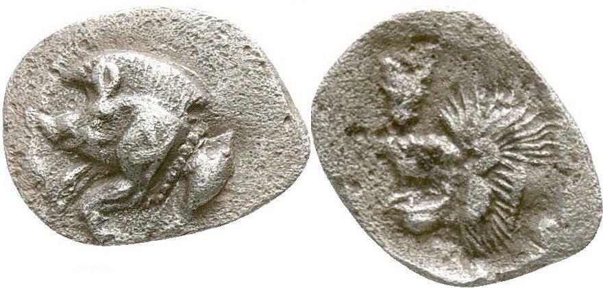 Hemiobolo. Kyzikos, Mysia. Raro?. 525-470/450 a.C. 50610