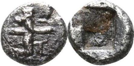 1/16 de Siclo o siglo. Darío I a Jerjes I. Imperio Aquemenida. 505-480 a. C. 50810