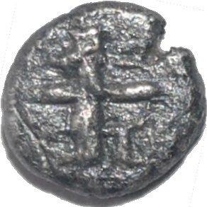 1/16 de Siclo o siglo. Darío I a Jerjes I. Imperio Aquemenida. 505-480 a. C. 508a10
