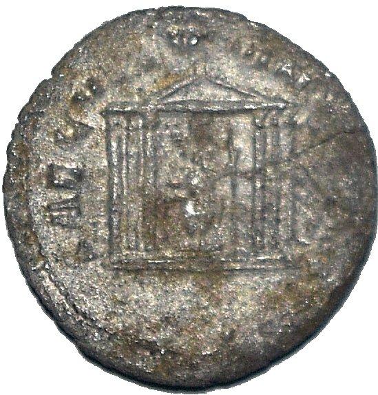 Antoniniano de Treboniano Galo. SAECVLLVM NOVVM. Antioquía 607a10