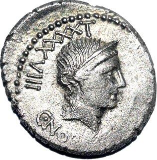 Denario acuñado en Roma (83 a.C.) por Cayo Norbano. 61510