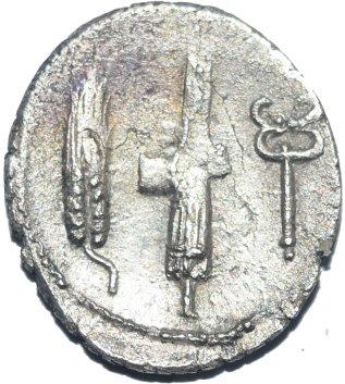 Denario acuñado en Roma (83 a.C.) por Cayo Norbano. 615a10