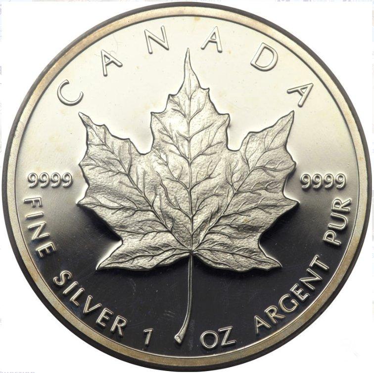 Canada, Cinco dolares de plata canadienses. Elizabeth II. 1989 626a10