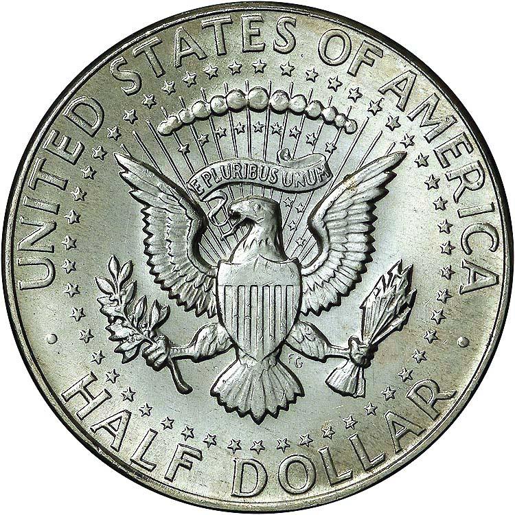 Medio dolar de plata de Kennedy. 1967 628a10