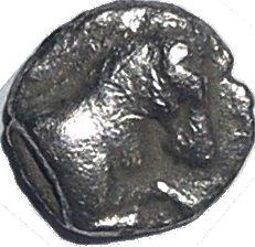 Hemiobolo de plata. Kyme, Aeolis, Siglo IV a.C.  63210