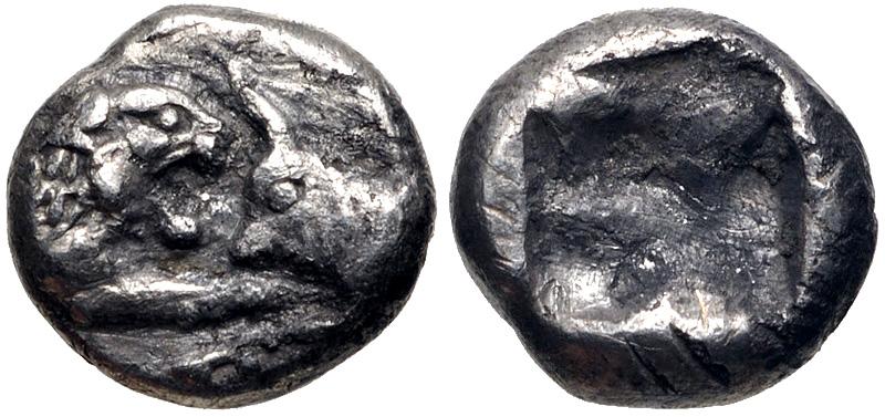 MYSEMITETARTE lidio o 1/16 de estátera. Rey de Lidia. Cresos (Kroisos). 560-546 a.C. 64311