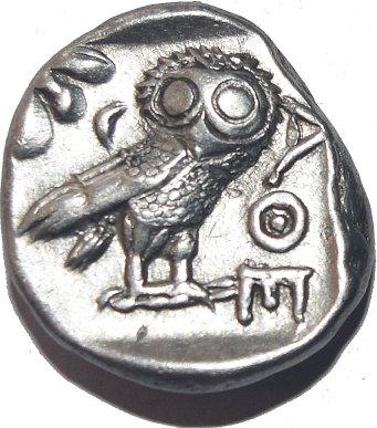 Tetradracma Imitando los atenienses. Egipto. Faraon desconocido. Ca siglos V-IV a.C. 644b10