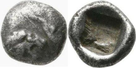 1/32 de estátera. Rey de Lidia. Cresos (Kroisos). 560-546 a.C.  65411